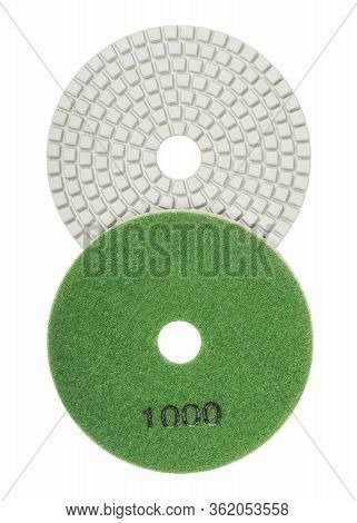 Both Sides Of Diamond Flexible Abrasive Disc For Grinding Machine Isolated On White Background
