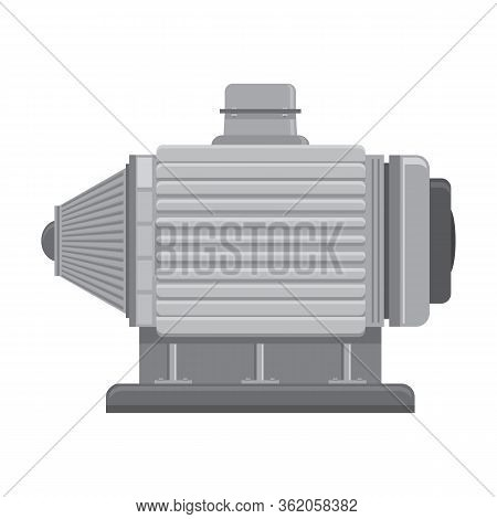 Electric Motor Icon Isolated On White Background. Industrial Engine.