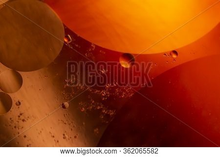 Rounded Colored Shapes. Abstract Photography. Transparent Circular Shapes. Selective Focus. Macro Ph