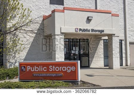 Indianapolis - Circa April 2020: Public Storage Self Storage Location. Public Storage Is The Largest
