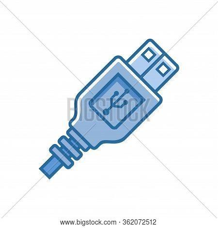 Simple Flat Minimalist Usb Plug Connection Icon. Suitable For Computer Hardware Technology Design El