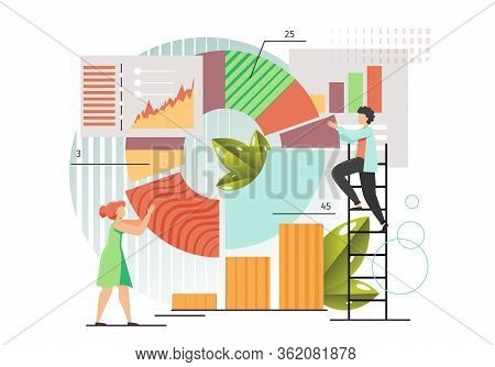 Data Collection, Vector Flat Style Design Illustration