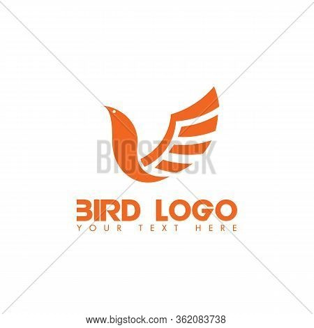 Bird Logo. Flying Bird Logo. Line Art Bird Logo Icon. Modern Bird Logo Design Concept . Nature Bird