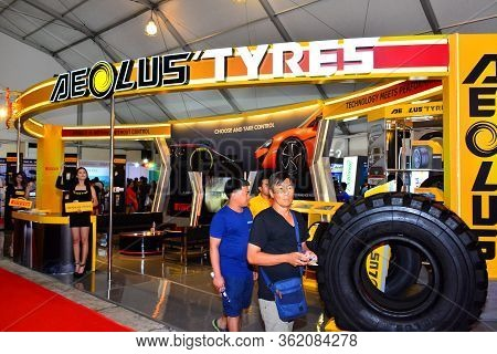 Pasay, Ph - Apr 1- Aeolus Tyres Booth At Manila International Auto Show On April 1, 2017 In Pasay, P
