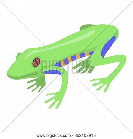 Jungle Frog Icon. Isometric Of Jungle Frog Vector Icon For Web Design Isolated On White Background