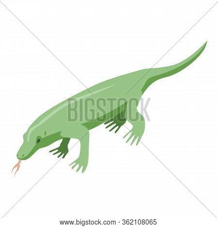 Amazon Crocodile Icon. Isometric Of Amazon Crocodile Vector Icon For Web Design Isolated On White Ba