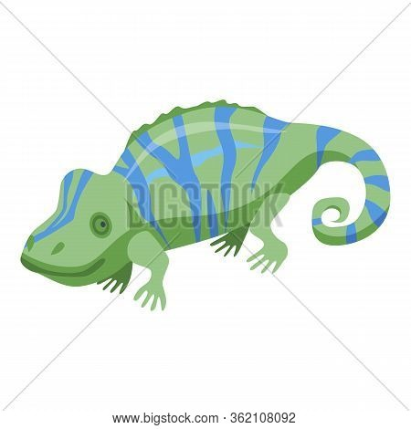 Chameleon Icon. Isometric Of Chameleon Vector Icon For Web Design Isolated On White Background