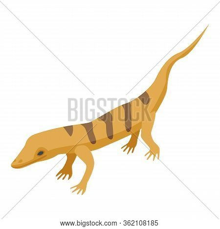 Desert Lizard Icon. Isometric Of Desert Lizard Vector Icon For Web Design Isolated On White Backgrou