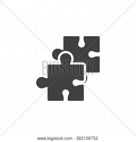 Jigsaw Puzzle Vector Icon. Filled Flat Sign For Mobile Concept And Web Design. Puzzle Pieces Glyph I