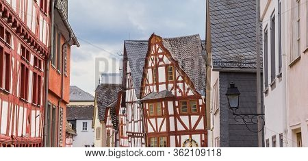 Panorama Of Half Timbered Houses In Limburg An Der Lahn, Germany