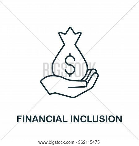 Financial Inclusion Icon. Creative Simple Symbol From Fintech Collection. Line Financial Inclusion I