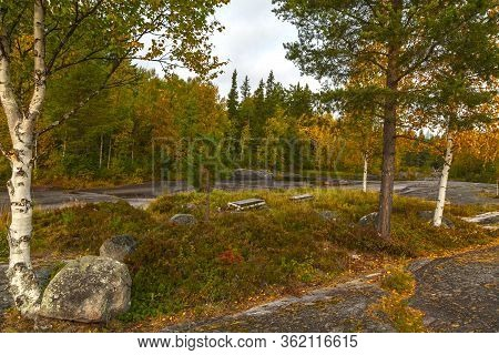 Zalavruga, Belomorsk, Karelia, Russia. Summer Landscape Plateau With The White Sea Petroglyphs. Beau