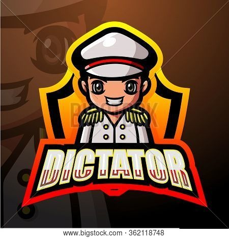 Vector Illustration Of Dictator Mascot Esport Logo Design