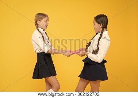 Schoolgirls Fight For Book. Protect Property. Greedy Friends. Greedy Competitors. Jealous Friend. Gr