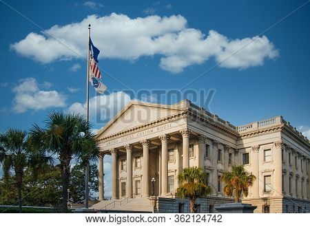 The Old United States Custom House On The Shore Of Charleston, South Carolina
