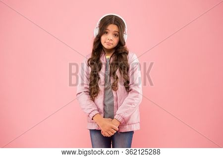 Cute And Shy. Need More Fun. Fun And Entertainment. Joining In A Song. Small Girl With Sad Look Pink