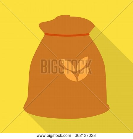 Isolated Object Of Bag And Flour Symbol. Set Of Bag And Wheat Stock Symbol For Web.