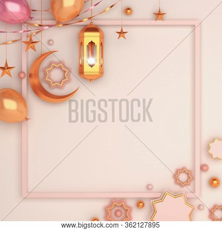 Ramadan Kareem Or Eid Al Fitr Adha, Islamic Background, Design Concept Of Islamic Celebration Day, L