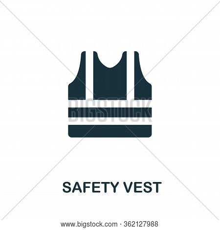 Safety Vest Icon. Simple Illustration From Personal Protection Collection. Creative Safety Vest Icon