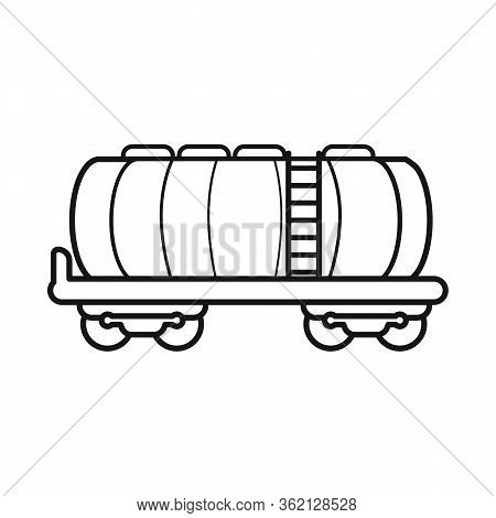 Vector Design Of Wagon And Cistern Logo. Web Element Of Wagon And Tank Stock Vector Illustration.