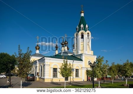 Murom, Russia - August 24, 2019:  Holy Ascension Cathedral In Murom On A Summer Evening