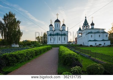 On A Summer Evening On The Territory Of The Murom Spaso-preobrazhensky Monastery. City Murom, Russia