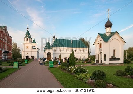 Murom, Russia - August 24, 2019: On A Summer Evening On The Territory Of The Murom Spaso-preobrazhen