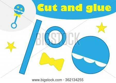 Beanbag In Cartoon Style, Education Game For The Development Of Preschool Children, Use Scissors And