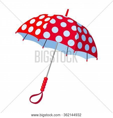 Umbrella Vector Icon.cartoon Vector Icon Isolated On White Background Umbrella.