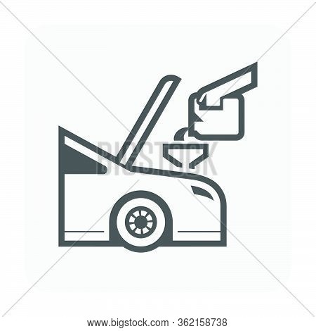 Lubricant Oil Check Vector Icon Design On White Background.