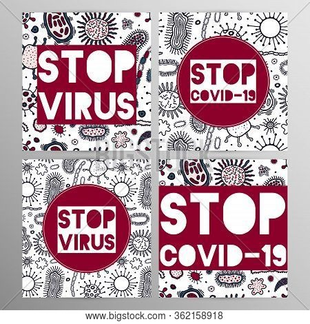 Coronovirus Infection Covid-19 Alert Poster. 20th Century Pandemic, Transmitted By Airborne Droplets