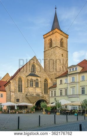 The Lorenz Church Is A Roman Catholic Parish Church In The Center Of The Old Town Of Erfurt, Germany