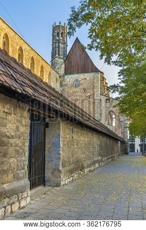 The Ruins Of The Former Franciscan Monastery Barfusser Church, Erfurt, Germany