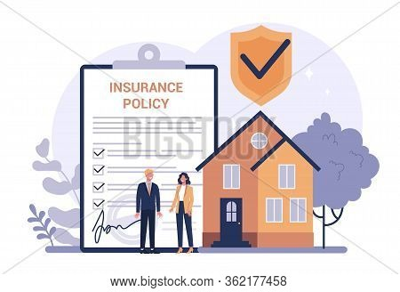 Homeowners Insurance Concept. Idea Of Security And Protection