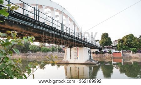 At Lampang, Thailand The Bridge Over Nam Wang The Official Name Is Ratsadaphisek Bridge The River Br