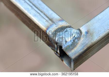 Weld Seam. Metal Profile. Welding Seam. Welded Joint. Welding Work