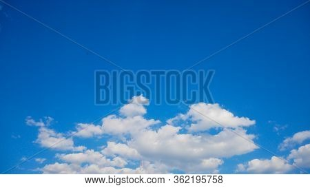 Cloud On Blue Skylight.scene Sunny Outdoor Daylight.cloudscape Nature Outdoor Ozone Oxygen.air Cloud