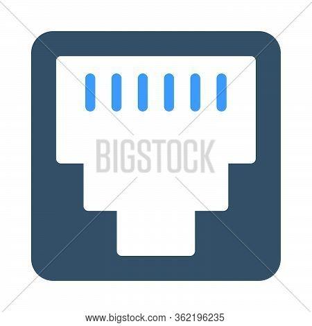 Rj45 Icon For Website Design And Desktop Envelopment, Development. Premium Pack.
