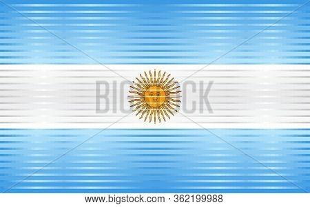 Shiny Grunge Flag Of The Argentina - Illustration,  Three Dimensional Flag Of Argentina