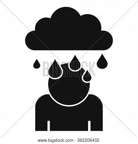 Rainy Depression Icon. Simple Illustration Of Rainy Depression Vector Icon For Web Design Isolated O