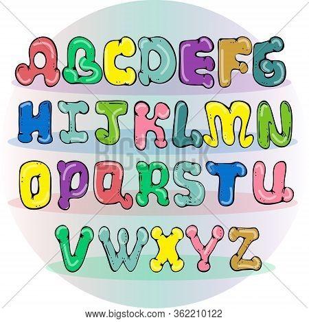 Vector Abstract Alphabet .alphabet Isolated.vector Alphabet Flat Style. Color Alphabet, Isolated.han