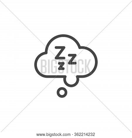 Sleepiness Graphic Icon. Drowsiness Is A Symptom Of Fatigue, Depression, Poor Health, Side Effects O