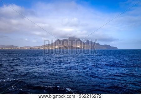 Sao Vicente Island View From The Sea, Cape Verde, Africa