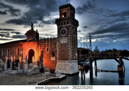 Venice - May 23, 2016 - The Venetian Arsenal On May 23, 2016. The Arsenal Is The Historic Military S