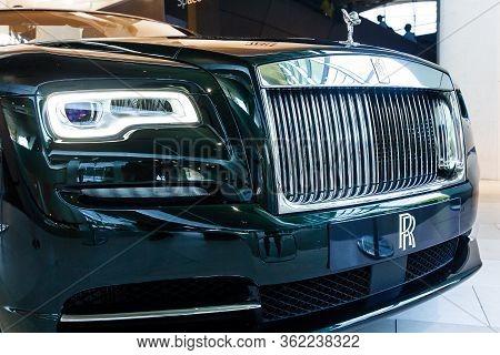 Rolls Royce, The Spirit Of Ecstasy Figure On A Bonnet .bmw Welt, Munich, Germany, March 2020.