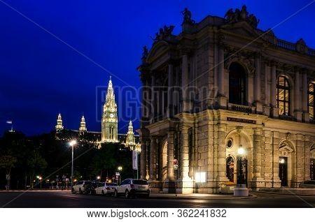 Vienna, Austria - May 20, 2017: The Burgtheater In Vienna (austria), Most Important German Language