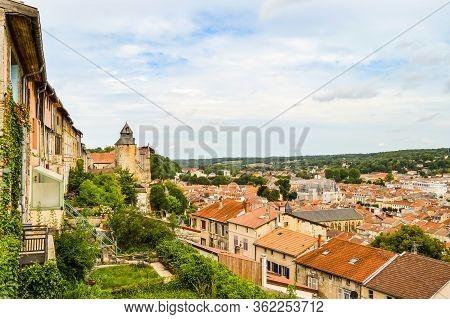 Landscape With Old Town, Bar-le-duc, Meuse, Lorraine, France