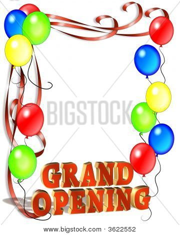 Grand Opening Balloons And Ribbons