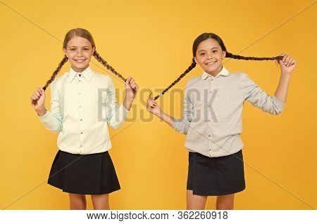 Friendly Relationship. Friendship Goals. Cute School Girls Classmates. First School Day. Sisterhood