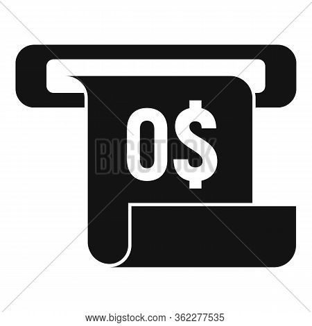 No Money Bill Receipt Icon. Simple Illustration Of No Money Bill Receipt Vector Icon For Web Design